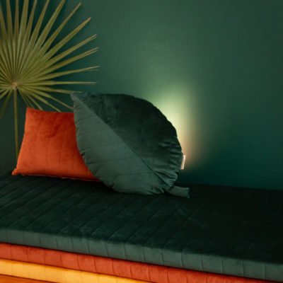 savanna green palma cushion by nobodinoz
