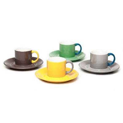 colourful mugs and cake stands, Jansen + Co by Serax