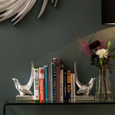 silver birds bookends by Latzio