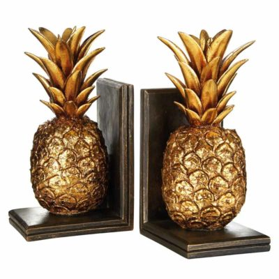 gold pineapple bookends by Latzio