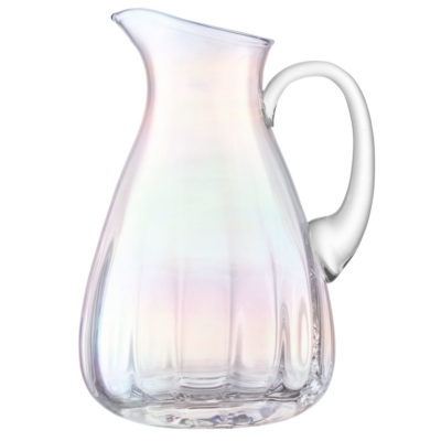 handmade holographic jug, pearl by LSA International