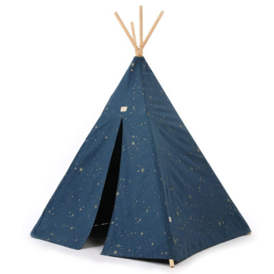 blue and gold teepee by Nobodinoz