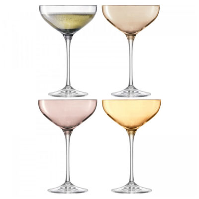 hand painted champagne saucer by LSA International