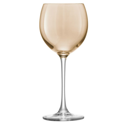 copper hand painted wine glasses by LSA international