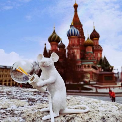 seletti white mouse lamp