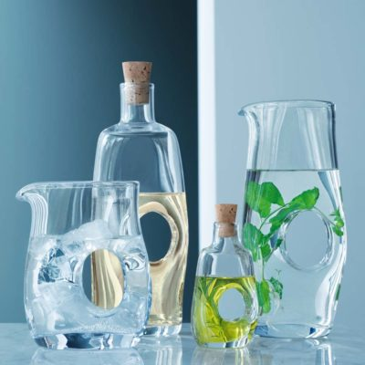 handmade carafes and jugs, void by LSA International