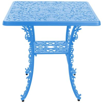 outdoor aluminium square table blue by Seletti