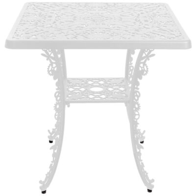 outdoor aluminium square table white by Seletti