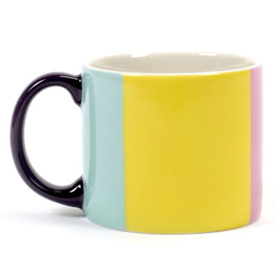 multicoloured porcelain mug Andy, Jansen + co by Serax