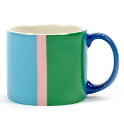 multicoloured porcelain mug Vincent, Jansen + co by Serax