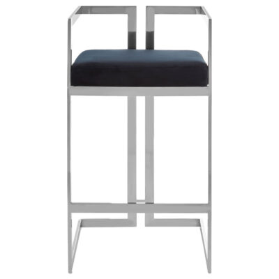 black and silver finish bar stool by Latzio