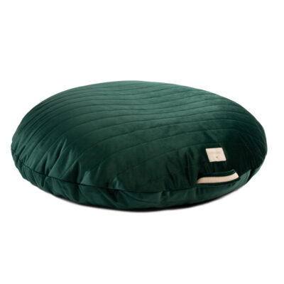 velvet beanbag jungle green by nobodinoz