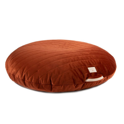 velvet beanbag wild brown by nobodinoz