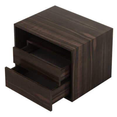 wooden bedside table with 2 drawers by laskasas