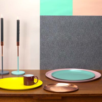 Tray round colour, jansen + co by Serax