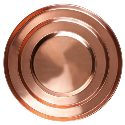 Tray round copper, Jansen + co by Serax