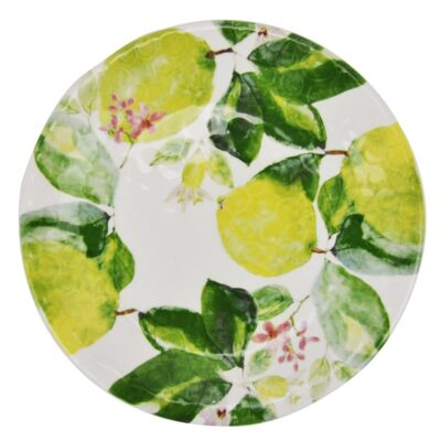 hand made round plate with lemon by Arcucci