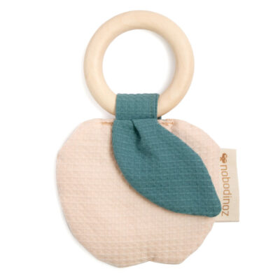 apple teether ring by nobodinoz