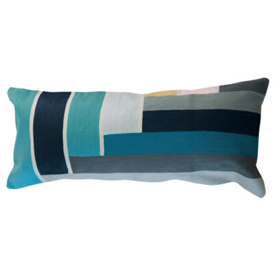 blue band rectangular cushion by toulemonde