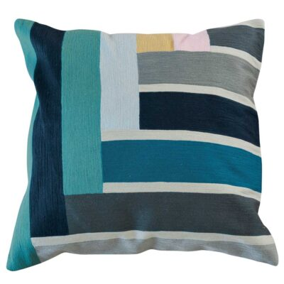 blue band square cushion by toulemonde