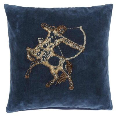 blue velvet cushion cover by Jakobsadals