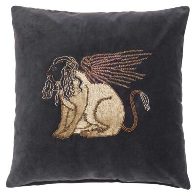 brown velvet cushion cover by Jakobsadals