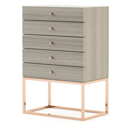 modern tallboy design with five drawers by Laskasas