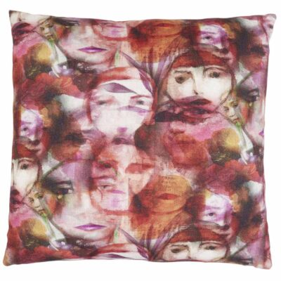 identity pink face cushion by Jakobsdals