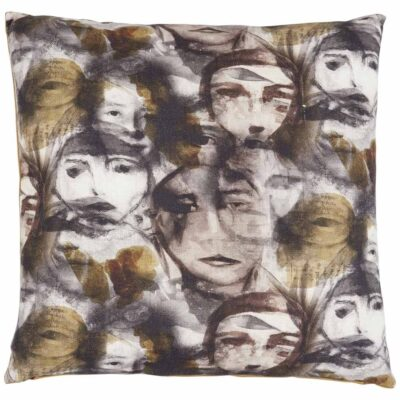 identity grey face cushion by Jakobsdals