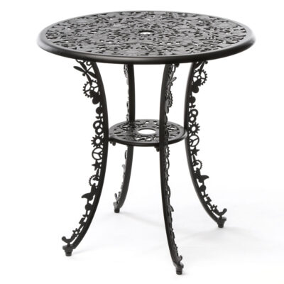 Outdoor aluminium table black by Seletti
