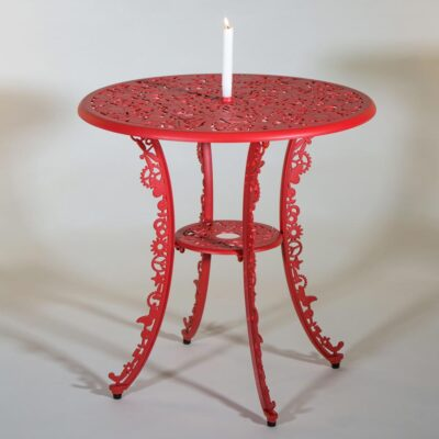 outdoor aluminium table red by Seletti