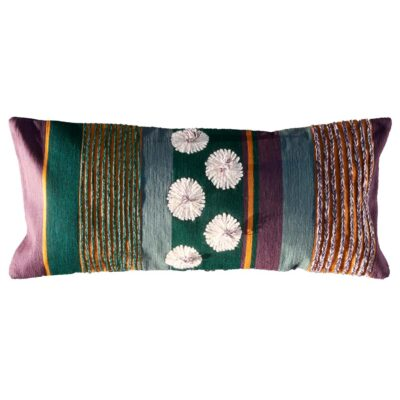 Embroidered cushion with flower by Toulemonde