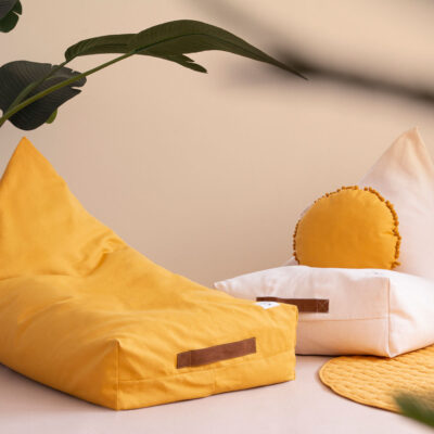 beanbag farniente yellow by nobodinoz
