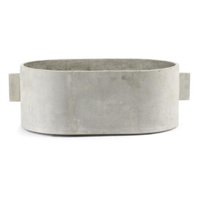 oval concrete large plant pot by Serax