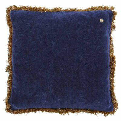 blue pure velvet cushion by Jakobsdals