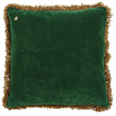 green pure velvet cushion by Jakobsdals
