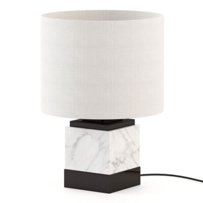 white marble table lamp by laskasas