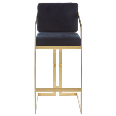 black and gold finish bar stool by Latzio