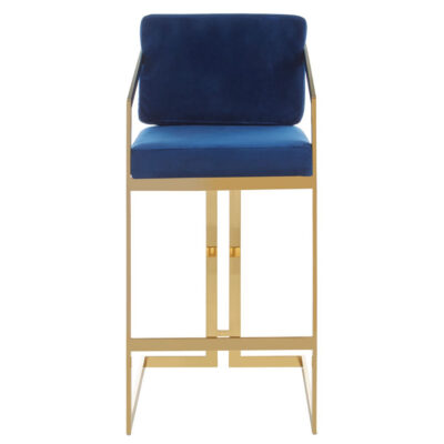 blue gold and finish bar stool by Latzio