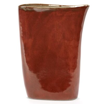 rusty misty grey high vase, terres de reves by serax