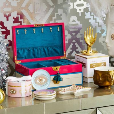 lacquer Jewellery Box fuchsia by Jonathan Adler