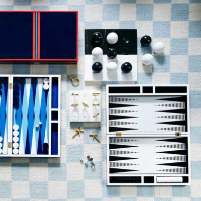 lacquer backgammon op art by Jonathan Adler