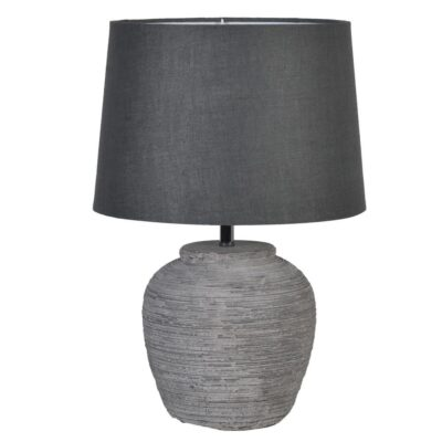 Acton Distressed stone effect lamp with shade by Latzio