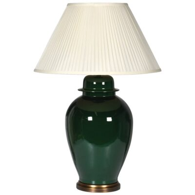 Ager Emarald green lamp with shade by Latzio