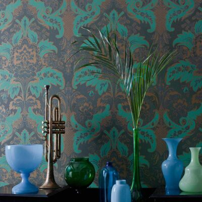Albemarle Aldwych green rococo wallpaper by Cole & Son
