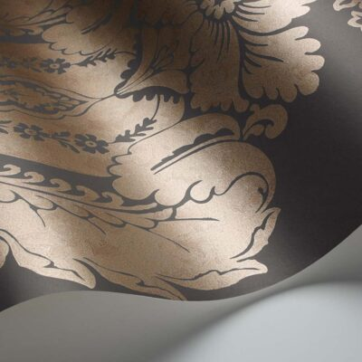 Albemarle Baudelaire, gold leaf wallpaper by Cole & Son