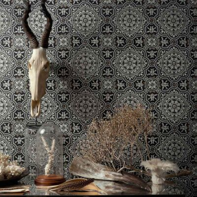 Albemarle Piccadilly tile pattern wallpaper by Cole & Son