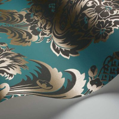 Albemarle Wyndham, floral damask wallpaper by Cole & Son