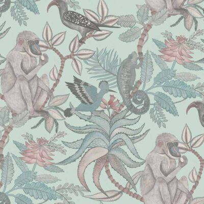 Ardmore Savuti, jungle wallpaper with baboons by Cole & Son
