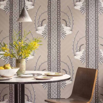Ardmore Jabu, grey rhino wallpaper by Cole & Son